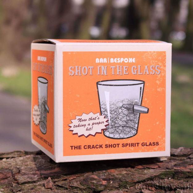 Szklanka Matrix postrzelona szklanka prezent na urodziny warszawa