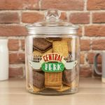 Friends Central Perk – Pojemnik z Pokrywką Szklany duży pojemnik na ciastka z pokrywka