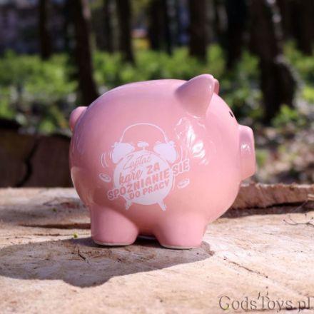 Skarbonka Świnka – Zapłać Karę za Spóźnianie się do Pracy prezent na odejście z pracy