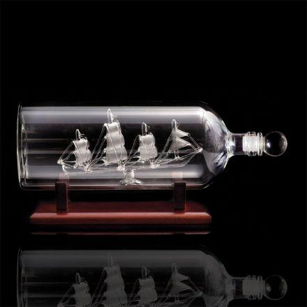 Karafka Butelka z Żaglowcem prezent dla marynarza