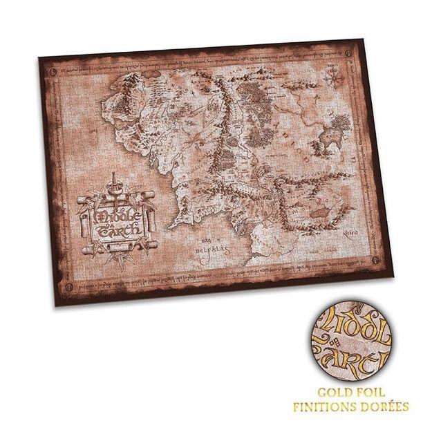 Lord of The Rings – Puzzle Mapa Śródziemia władca pierścieni puzzle