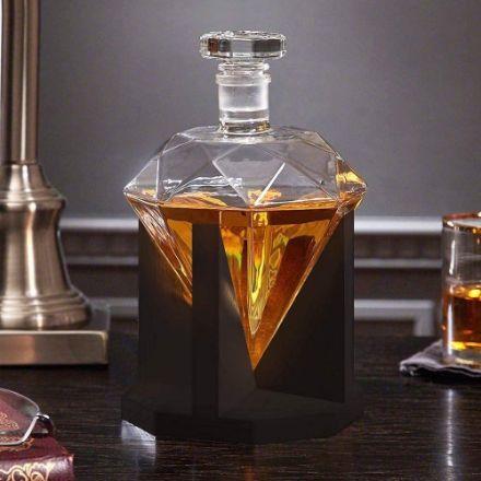 Karafka Diament Drewniany Stojak prezent dla męża