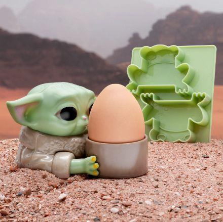 Gwiezdne Wojny The Mandalorian – Baby Yoda Podstawka do Jajek gadżety The Mandalorian
