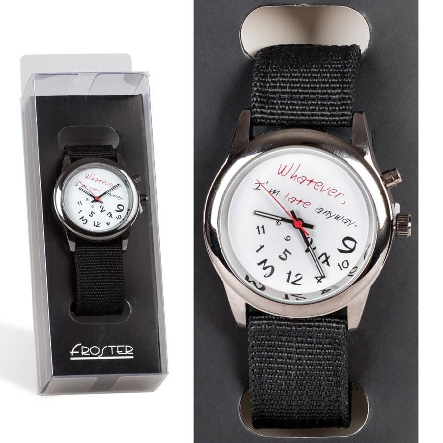 Zegarek dla spóźnialskich prezent dla chłopaka